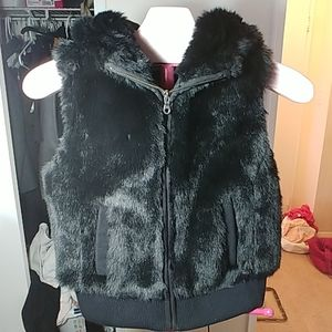 Ann Taylor Sleeveless Fur Hoodie